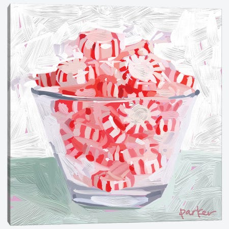 Peppermint Cup Canvas Print #TEP73} by Teddi Parker Canvas Wall Art