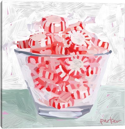 Peppermint Cup Canvas Art Print