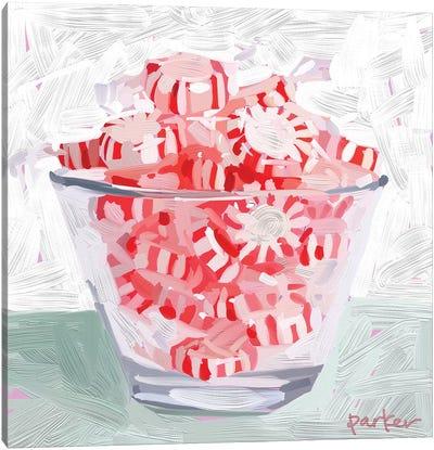 Peppermint Cup Canvas Art Print