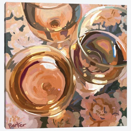 Rosé All Day Canvas Print #TEP80} by Teddi Parker Art Print
