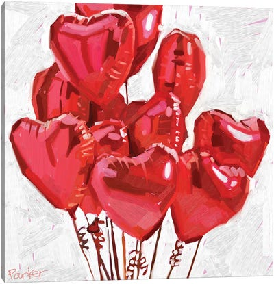 Spread The Love Canvas Art Print