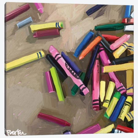 Creativity Is Messy 3-Piece Canvas #TEP83} by Teddi Parker Canvas Art Print