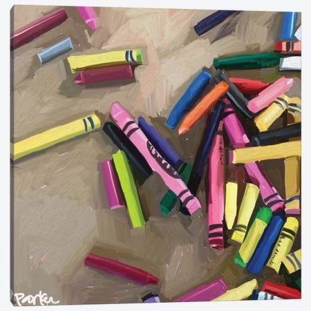 Creativity Is Messy Canvas Print #TEP83} by Teddi Parker Canvas Art Print