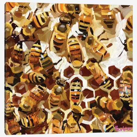 Buzzz Canvas Print #TEP87} by Teddi Parker Canvas Wall Art