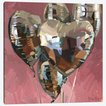 Warm Hearts Canvas Print #TEP89} by Teddi Parker Art Print