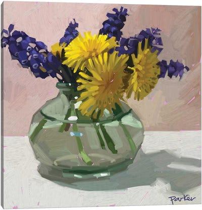 Dandelions And Hyacinth Canvas Art Print