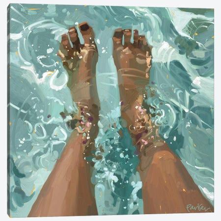 Pool Day Canvas Print #TEP91} by Teddi Parker Canvas Wall Art