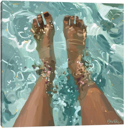 Pool Day Canvas Art Print