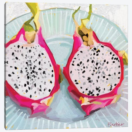 Dragon Fruit Canvas Print #TEP9} by Teddi Parker Canvas Art Print