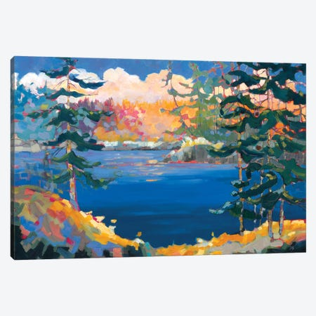 Lake in the Woods  Canvas Print #TES11} by Teresa Smith Canvas Art Print