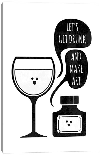 Drink And Draw Canvas Art Print