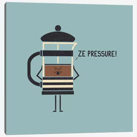 French Press Canvas Print #TEZ19} by HandsOffMyDinosaur Canvas Wall Art