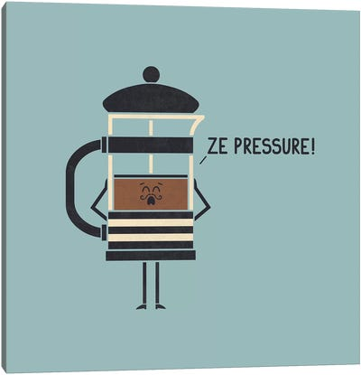 French Press Canvas Art Print