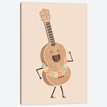 Always Happy Canvas Print #TEZ1} by HandsOffMyDinosaur Art Print