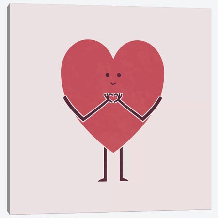 Heart Hands Canvas Print #TEZ23} by HandsOffMyDinosaur Art Print