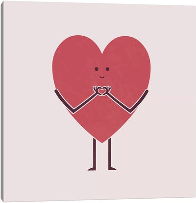 Heart Hands Canvas Art Print