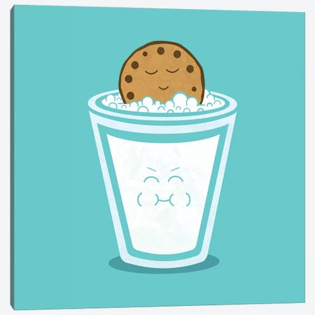 Hot Tub Cookie Canvas Print #TEZ26} by HandsOffMyDinosaur Canvas Artwork
