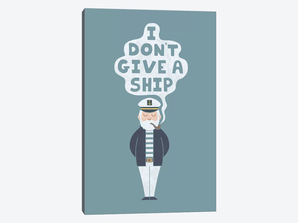 Indifferent Captain by HandsOffMyDinosaur 1-piece Canvas Wall Art
