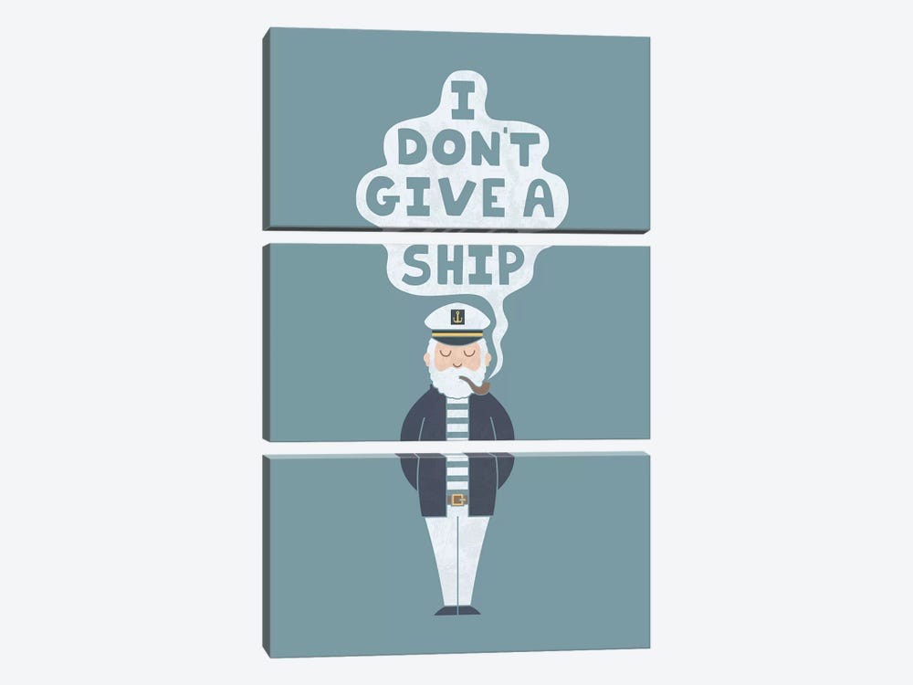 Indifferent Captain by HandsOffMyDinosaur 3-piece Canvas Wall Art