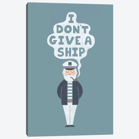 Indifferent Captain Canvas Print #TEZ27} by HandsOffMyDinosaur Canvas Art
