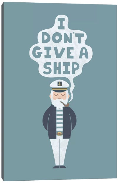 Indifferent Captain Canvas Art Print