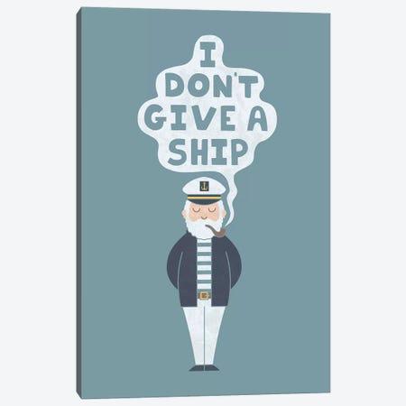 Indifferent Captain Canvas Print #TEZ27} by HandsOffMyDinosaur Canvas Art