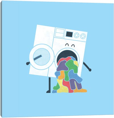 Laundry Day Canvas Art Print