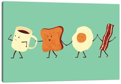 Let's All Go For Breakfast Canvas Art Print