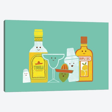 Margarita Canvas Print #TEZ32} by HandsOffMyDinosaur Canvas Artwork