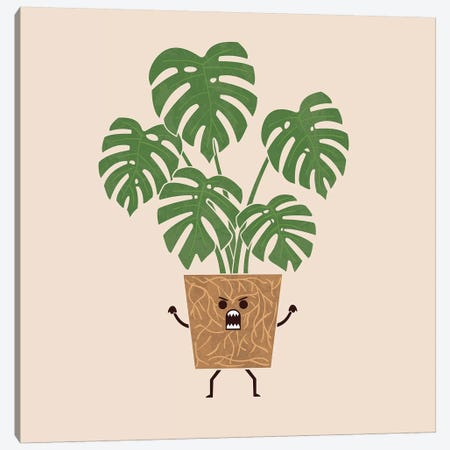 Monstera Canvas Print #TEZ37} by HandsOffMyDinosaur Canvas Print