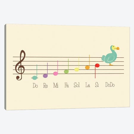 Music Lesson Canvas Print #TEZ38} by HandsOffMyDinosaur Canvas Art
