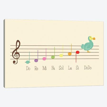 Music Lesson Canvas Print #TEZ38} by HandsOffMyDinosaur Canvas Art