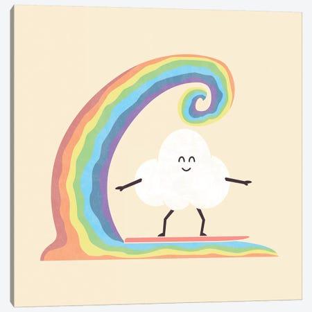 Rainbow Surf Canvas Print #TEZ43} by HandsOffMyDinosaur Canvas Print