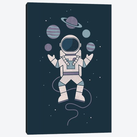 Space Juggler Canvas Print #TEZ46} by HandsOffMyDinosaur Canvas Art