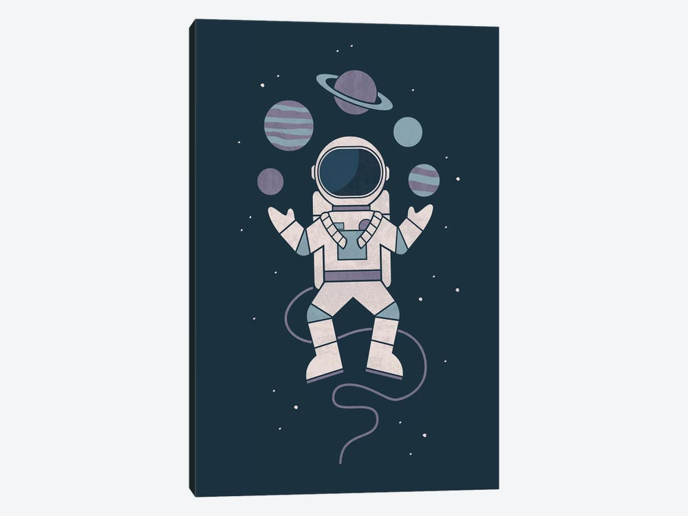 Space Juggler by HandsOffMyDinosaur 1-piece Canvas Print