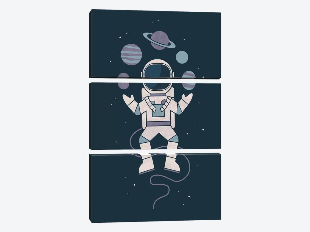 Space Juggler by HandsOffMyDinosaur 3-piece Canvas Print