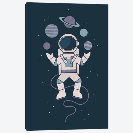 Space Juggler Canvas Print #TEZ46} by HandsOffMyDinosaur Canvas Art
