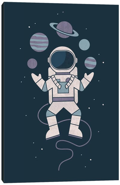 Space Juggler Canvas Art Print