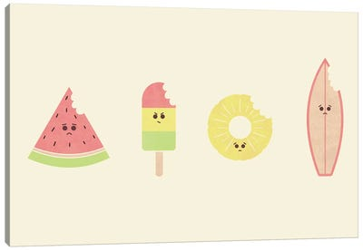 Summer Bites Canvas Art Print