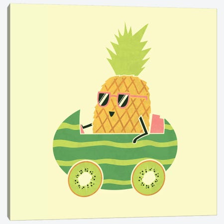Summer Drive Canvas Print #TEZ50} by HandsOffMyDinosaur Canvas Wall Art