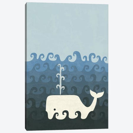 The Whale Canvas Print #TEZ57} by HandsOffMyDinosaur Canvas Print