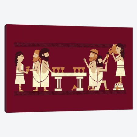 Toga Party Canvas Print #TEZ58} by HandsOffMyDinosaur Canvas Artwork