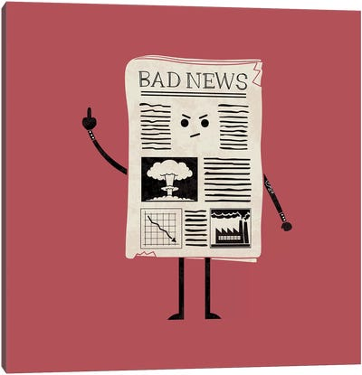 Bad News Canvas Art Print