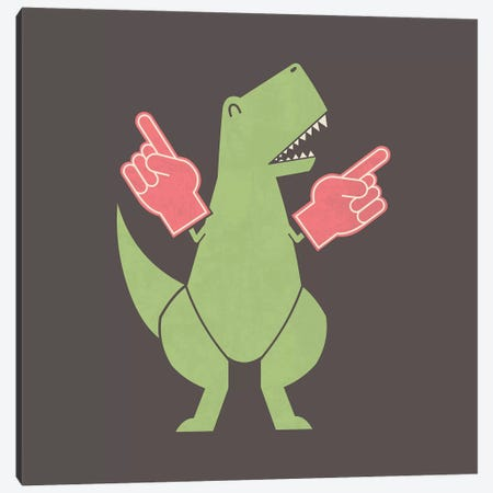 Yay Big Hands Canvas Print #TEZ64} by HandsOffMyDinosaur Canvas Art