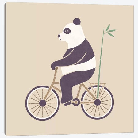 Bamboo Bicycle Canvas Print #TEZ6} by HandsOffMyDinosaur Canvas Wall Art