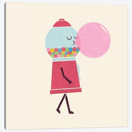 Bubble Gum Canvas Print #TEZ7} by HandsOffMyDinosaur Canvas Art