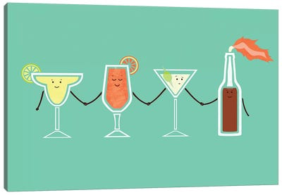 Cocktails Canvas Art Print