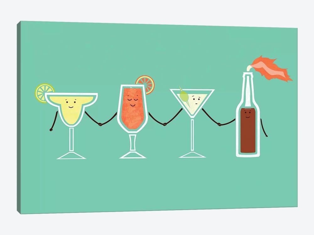Cocktails by HandsOffMyDinosaur 1-piece Canvas Art