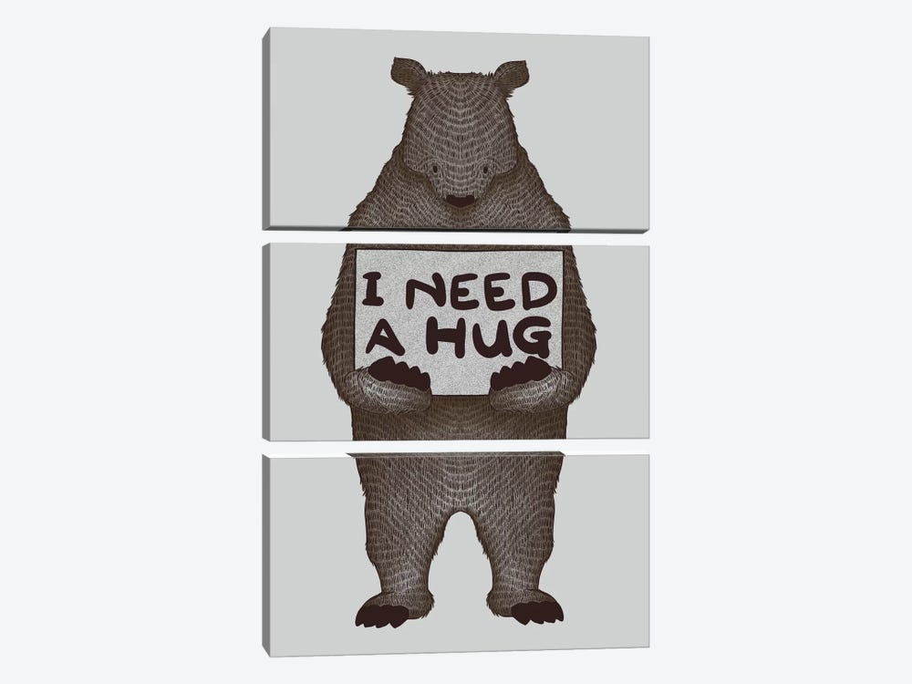 I Need A Hug by Tobias Fonseca 3-piece Canvas Artwork