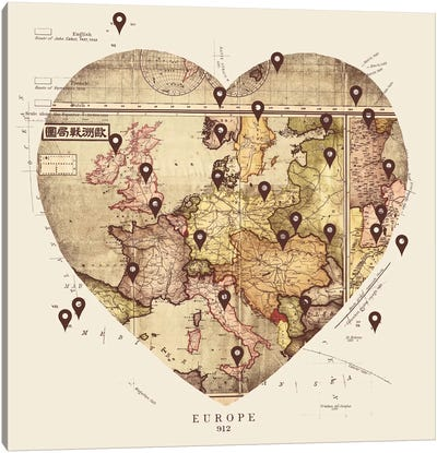 Love To Travel Canvas Art Print